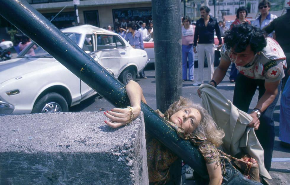 Adela Legorreta Rivas atropellada por un Datsun