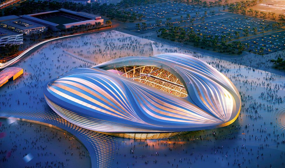 El estadio con forma de coño