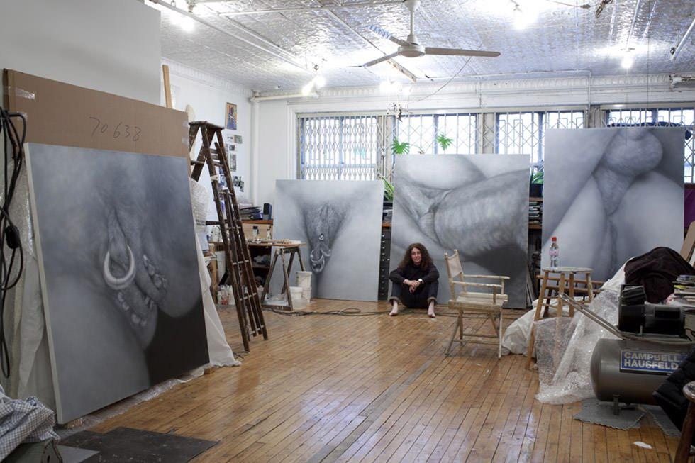 Una artista en su estudio