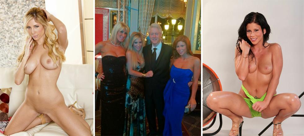 Bill Clinton y sus nuevas becarias en Mónaco