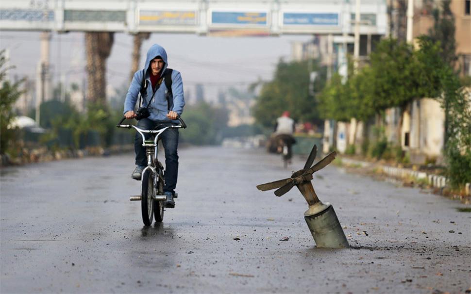 Paseando en bicicleta por Siria