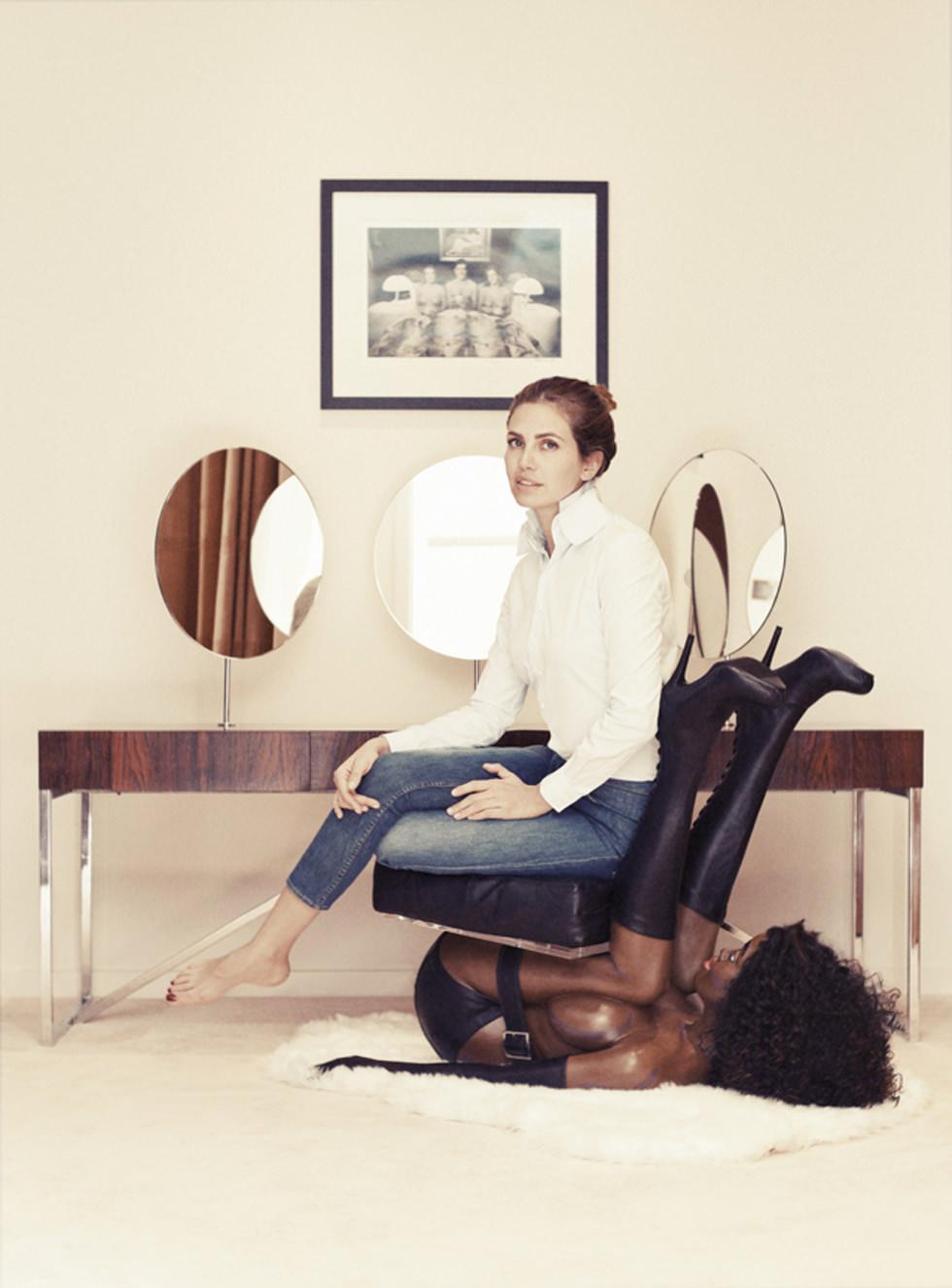 La silla de ébano