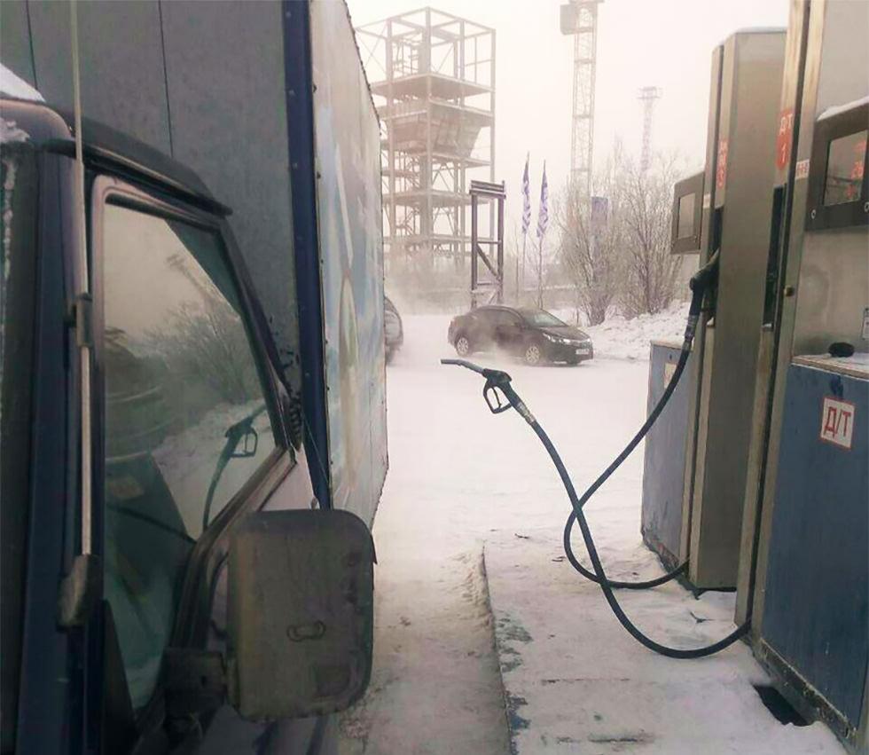 El duro invierno siberiano