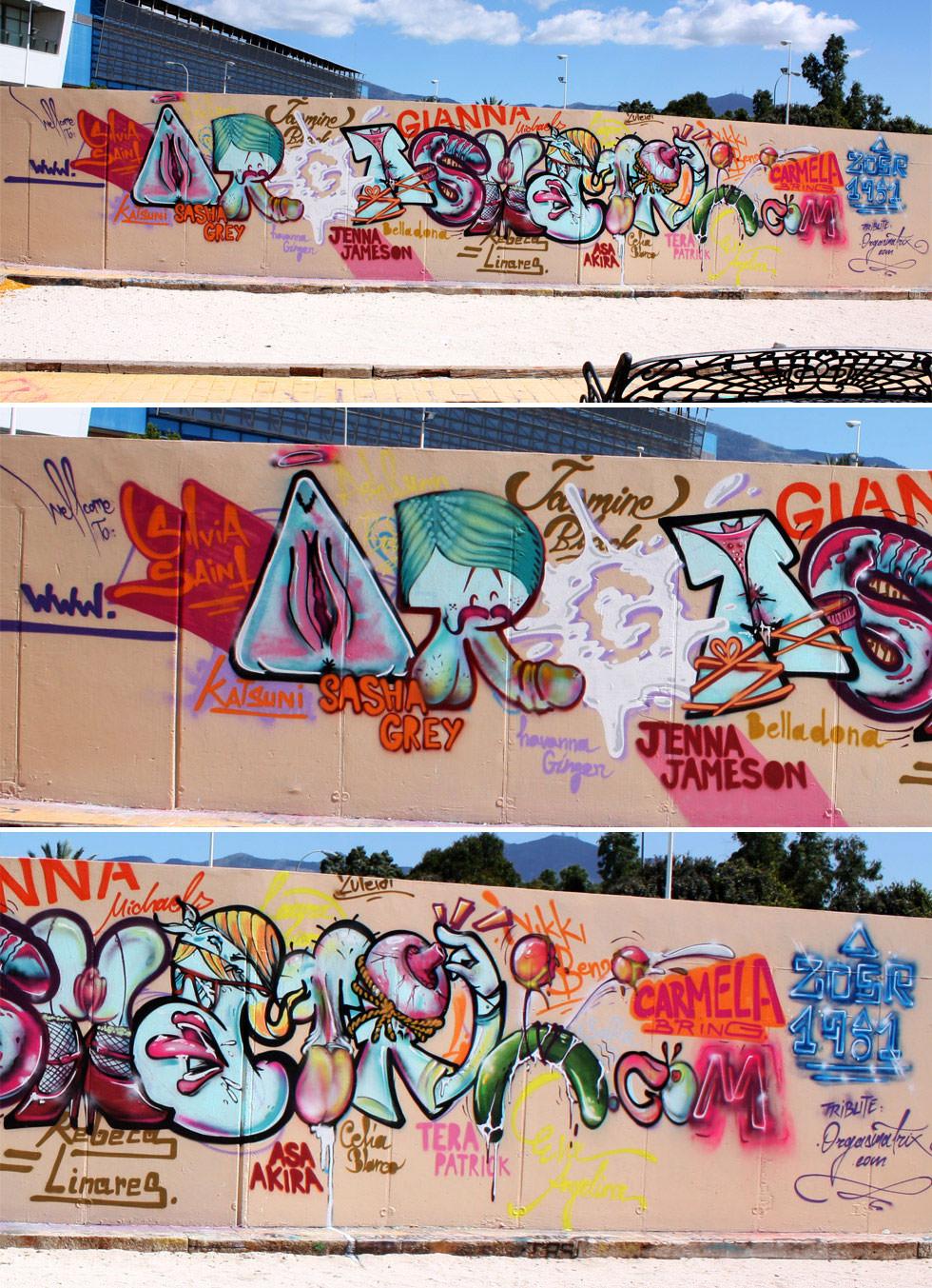 Graffiti Orgasmatrix en Fuengirola (Málaga)