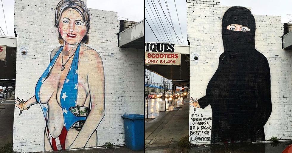 Hillary Clinton es la maja vestida y la maja desnuda