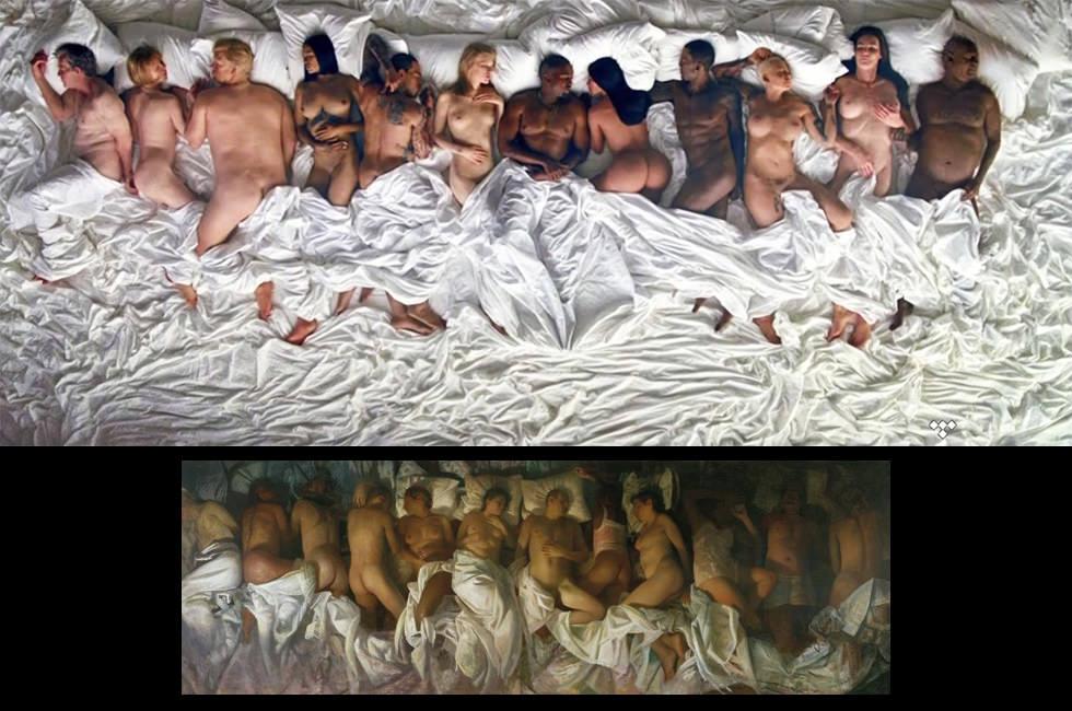 En la cama con Kanye West