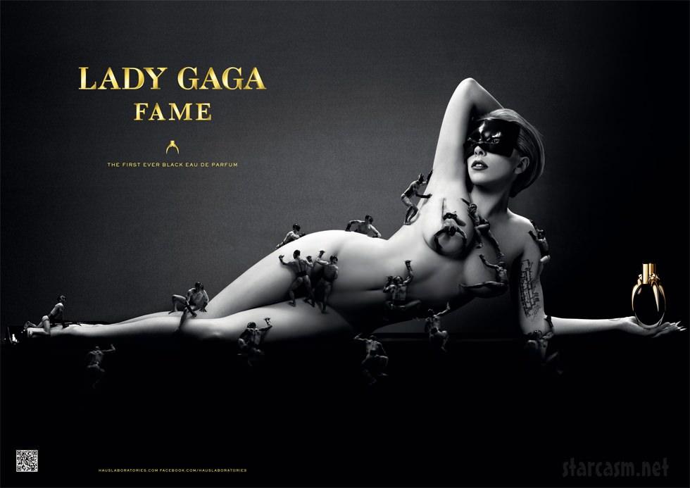 Lady Gaga se desnuda para presentar Fame