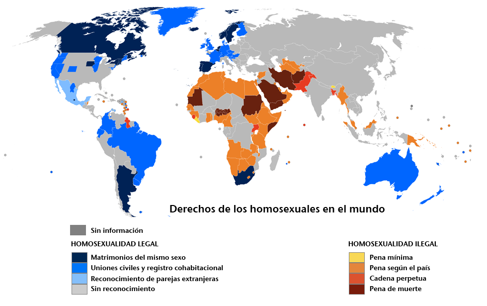 El matrimonio gay legal en el mundo