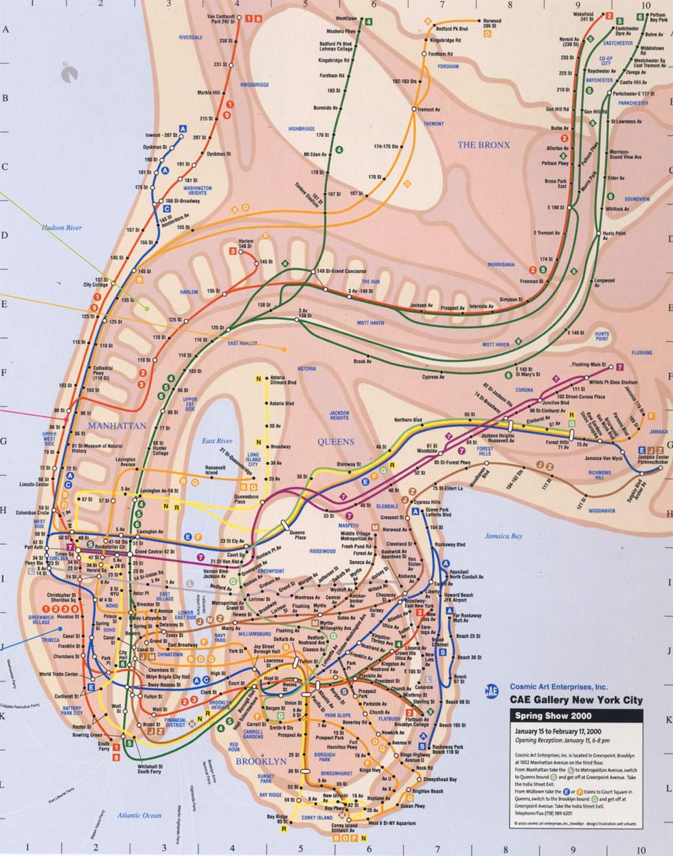 Mapa del metro de Nueva York
