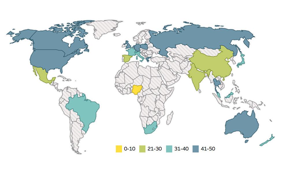 Mapa mundial de la igualdad orgásmica