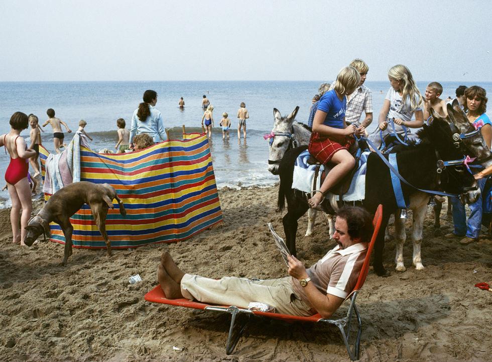 La playa de Blackpool en 1982