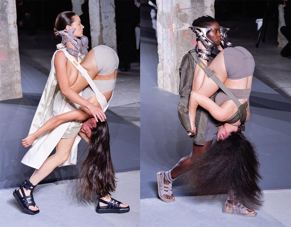 Las mujeres mochila llegan a la pasarela