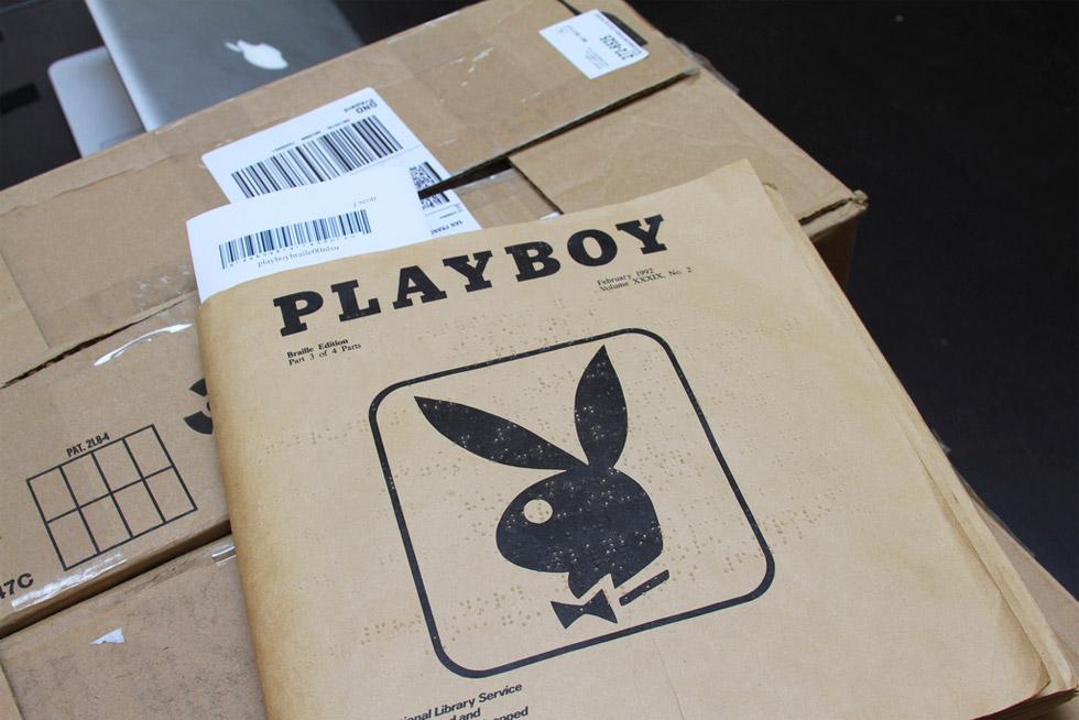 Playboy edición especial para ciegos