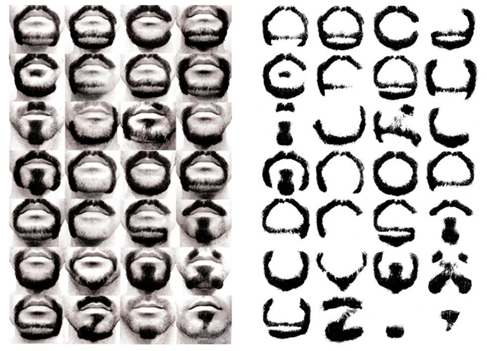 Tipografía de las barbas