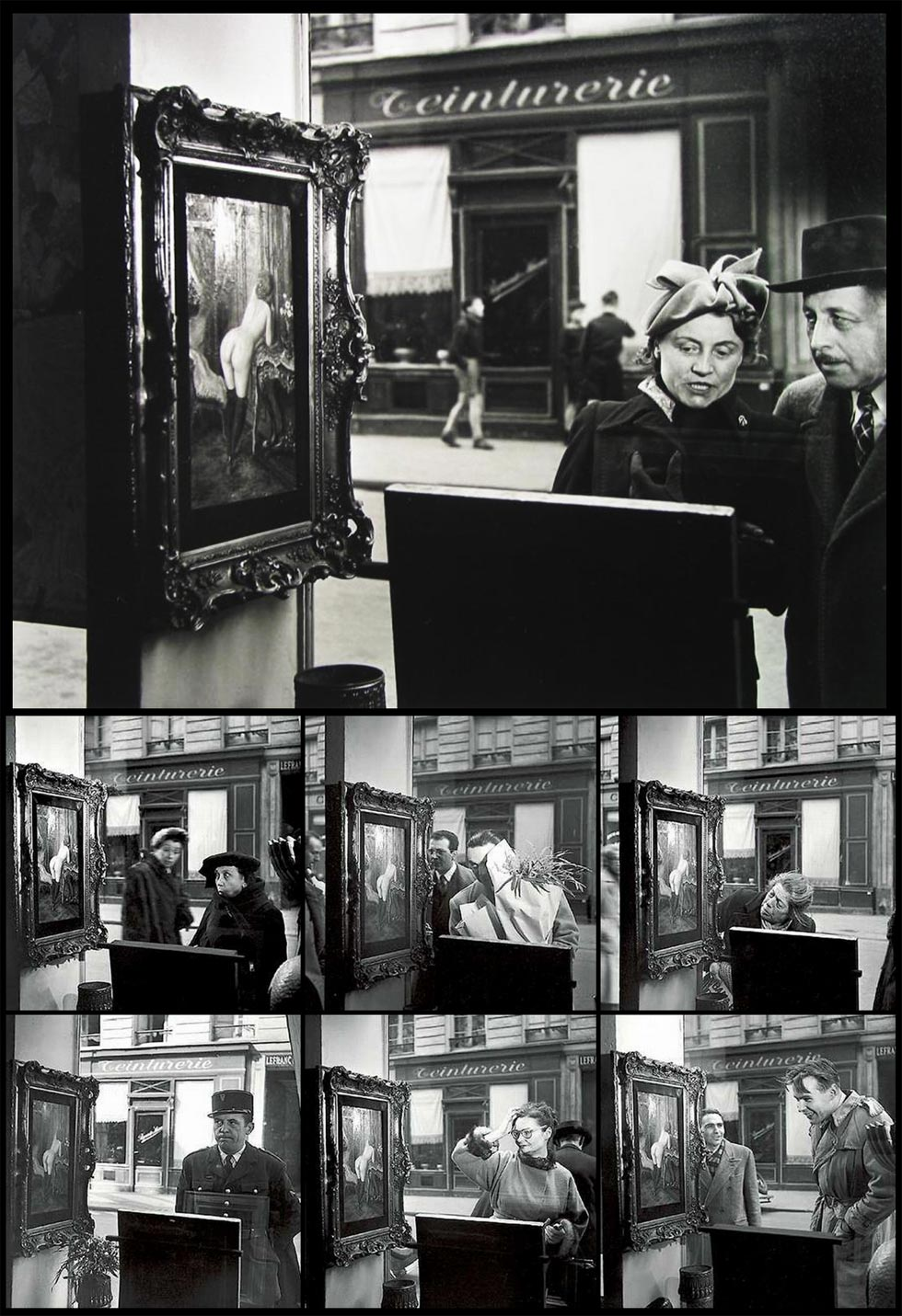 Una mirada oblicua (Robert Doisneau, 1948)