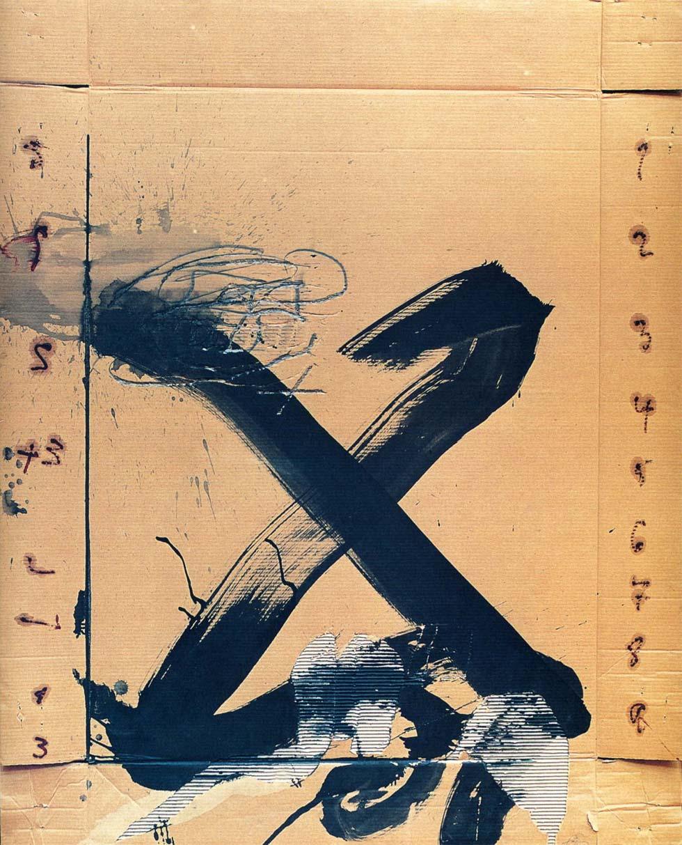 Gran X, de Antoni Tàpies (1988)
