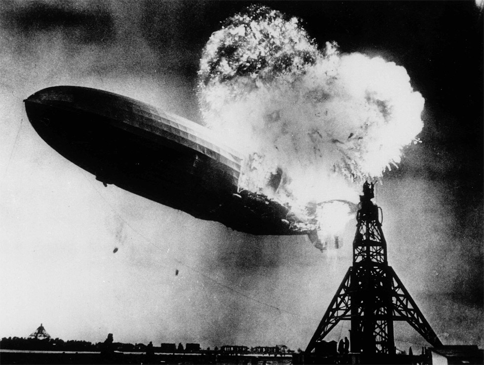 El accidente del dirigible Hindenburg