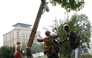 FEMEN se manifiesta en favor de Pussy Riot