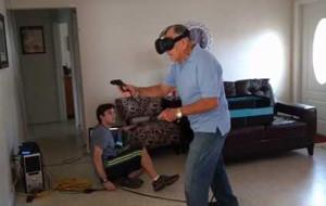 Juegos virtuales: un abuelo salvaje apareció