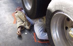 Accidente en la carretera