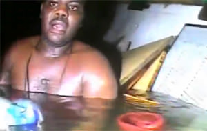 Un cocinero sobrevivió 3 días en un barco hundido
