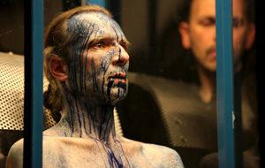 Yann Marussich y la performance azul