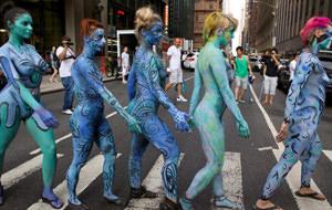 Body painting para reivindicar la desnudez