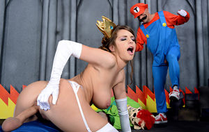 La princesa Peach premia el valor de Mario y Luigi