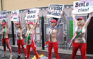 FEMEN se despide de Berlusconi