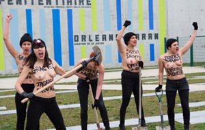 FEMEN cava un túnel para liberar a una convicta