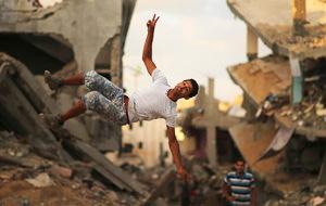Parkour en Gaza, zona de guerra