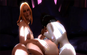 Lesbianas en juego anal con arnes - 1 part 4