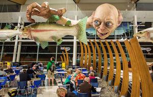 Gollum gigante en un aeropuerto neozelandés