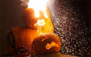 Halloween pirómano: calabazas en llamas