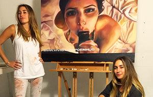 Las Kaplan pintan la sextape de Kim Kardashian