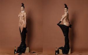 Hoy Kim Kardashian nos enseña el coño