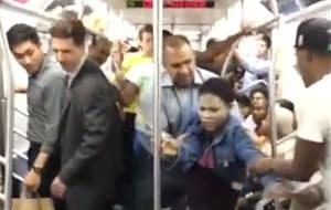 Un brote de ira asesina en el vagón de metro