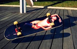 Skateboard y el erotismo de Lais Oliveira