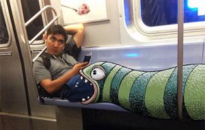 Subwaydoodle: los monstruos viajan en metro