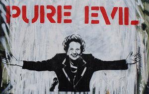 "La calle ""homenajea"" a Margaret Thatcher"
