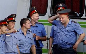 Una rutinaria inspección de policía en Rusia