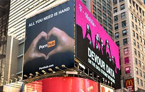 Pornhub aterriza (y despega) en Times Square