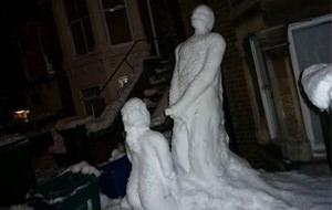 Hoy no hay escuela: muñecos de nieve porno