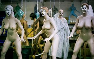Retrato fotográfico de una fábrica de Real Dolls