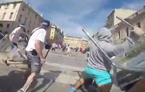 Así es pelearse con hooligans en la Eurocopa