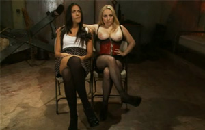 Dominación y sexo brutal con las viciosas Aiden Starr y Lyla Storm